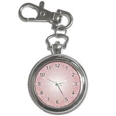 Pink Damask Key Chain & Watch by ADIStyle