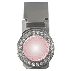 Pink Damask Money Clip (cz) by ADIStyle