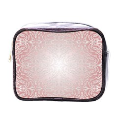 Pink Damask Mini Travel Toiletry Bag (one Side) by ADIStyle