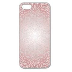 Pink Damask Apple Seamless Iphone 5 Case (clear) by ADIStyle