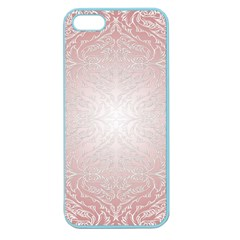 Pink Damask Apple Seamless Iphone 5 Case (color) by ADIStyle