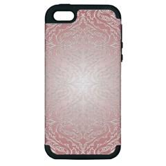 Pink Damask Apple Iphone 5 Hardshell Case (pc+silicone) by ADIStyle