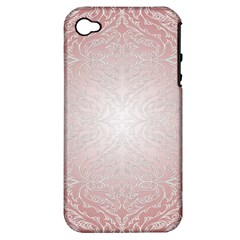 Pink Damask Apple Iphone 4/4s Hardshell Case (pc+silicone) by ADIStyle