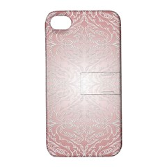 Pink Damask Apple Iphone 4/4s Hardshell Case With Stand by ADIStyle