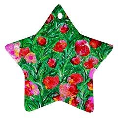 Flower Dreams Star Ornament by dawnsebaughinc