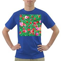Flower Dreams Mens' T Shirt (colored) by dawnsebaughinc