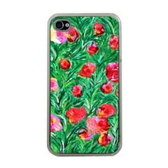 Flower Dreams Apple Iphone 4 Case (clear) by dawnsebaughinc