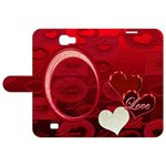 I Heart You Red Galaxy Note 2 Folio - Samsung Galaxy Note 2 Leather Folio Case