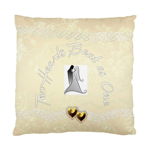 Two Hearts Beat As One Wedding 1 Cushion Case By Ellan   Standard Cushion Case (one Side)   Q8szbbjttjg5   Www Artscow Com Front