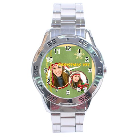 Christmas By Merry Christmas   Stainless Steel Analogue Watch   0v9uferdu9qt   Www Artscow Com Front