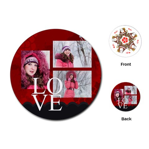 Love By Ki Ki   Playing Cards (round)   Edi5wknklr5n   Www Artscow Com Front