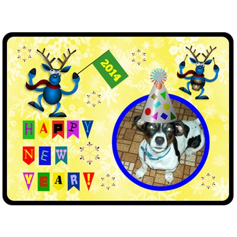Happy New Year Large Blanket By Joy Johns   Fleece Blanket (large)   V8gk90701zyz   Www Artscow Com 80 x60 Blanket Front