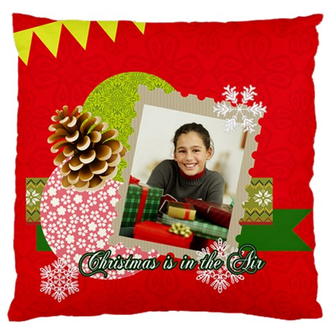 Christmas By Merry Christmas   Large Cushion Case (one Side)   Jm6tw3jgvnp3   Www Artscow Com Front
