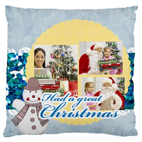 Christmas By Merry Christmas   Large Cushion Case (one Side)   93bgiythze00   Www Artscow Com Front