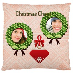 Christmas By Merry Christmas   Large Cushion Case (two Sides)   Zesn2qgea6f7   Www Artscow Com Front