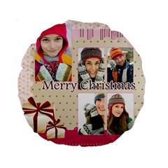 Christmas By Merry Christmas   Standard 15  Premium Round Cushion    22qufzm6e08u   Www Artscow Com Front