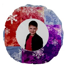Funky Snowflake Round Cushion By Catvinnat   Large 18  Premium Round Cushion    G1si4wtjtk0l   Www Artscow Com Front
