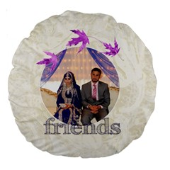 Family & Friends Round Cushion By Catvinnat   Large 18  Premium Round Cushion    Skcysv5to5f1   Www Artscow Com Back