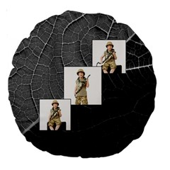 Jungle Fever Monochrome Round Cushion By Catvinnat   Large 18  Premium Round Cushion    Hphiz0inhfhv   Www Artscow Com Front