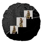 Jungle Fever Monochrome Round Cushion - Large 18  Premium Round Cushion