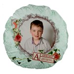 Adorable II Round Cushion - Large 18  Premium Round Cushion