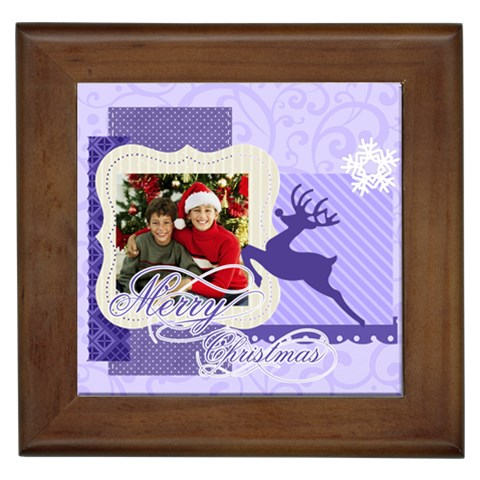 Christmas By Merry Christmas   Framed Tile   Uwfvnw9dyngv   Www Artscow Com Front