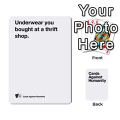 Cah White Cards 6 By Steven   Playing Cards 54 Designs   Aqs8dow35hir   Www Artscow Com Front - Heart2