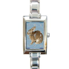 Cute Bunny Rectangular Italian Charm Watch by mysticalimages