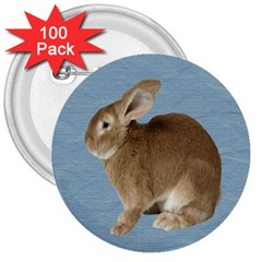Cute Bunny 3  Button (100 Pack) by mysticalimages