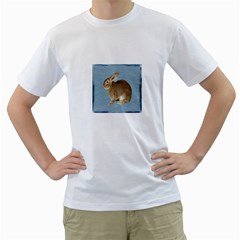Cute Bunny Mens  T Shirt (white) by mysticalimages