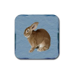 Cute Bunny Drink Coasters 4 Pack (square) by mysticalimages