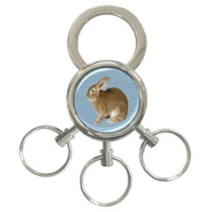 Cute Bunny 3 Ring Key Chain by mysticalimages