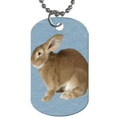 Cute Bunny Dog Tag (one Sided) by mysticalimages