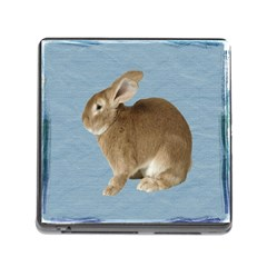 Cute Bunny Memory Card Reader With Storage (square) by mysticalimages