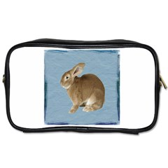 Cute Bunny Travel Toiletry Bag (two Sides) by mysticalimages