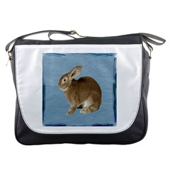 Cute Bunny Messenger Bag by mysticalimages