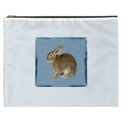 Cute Bunny Cosmetic Bag (xxxl) by mysticalimages