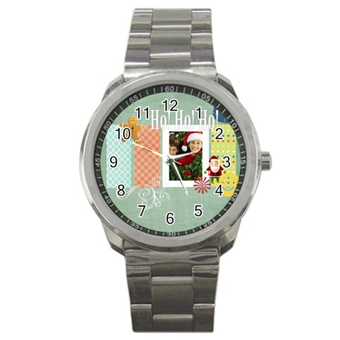 Christmas By Merry Christmas   Sport Metal Watch   Vzeb1xv3kmfh   Www Artscow Com Front
