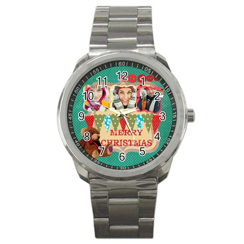 Christmas By Merry Christmas   Sport Metal Watch   Ma7s7t5jpz8z   Www Artscow Com Front