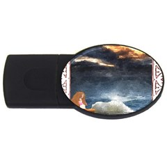 Stormy Twilight [framed] 4gb Usb Flash Drive (oval) by mysticalimages