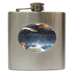 Stormy Twilight  Hip Flask by mysticalimages