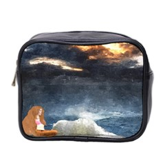 Stormy Twilight  Mini Travel Toiletry Bag (two Sides) by mysticalimages