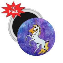 Unicorn Ii 2 25  Button Magnet (10 Pack) by mysticalimages