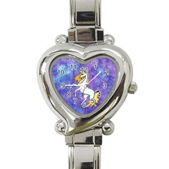 Unicorn Ii Heart Italian Charm Watch  by mysticalimages
