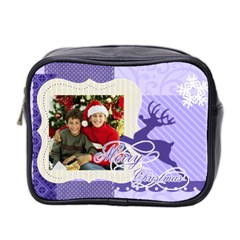 Christmas By Merry Christmas   Mini Toiletries Bag (two Sides)   Zf57b875n8xr   Www Artscow Com Front