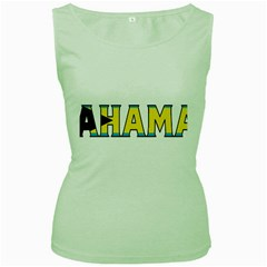 Bahamas Womens  Tank Top (green) by worldbanners