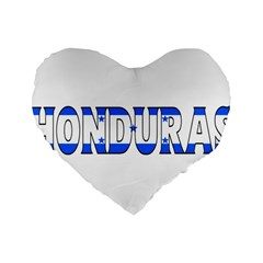 Honduras 16  Premium Heart Shape Cushion  by worldbanners