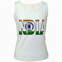 India Womens  Tank Top (white) by worldbanners