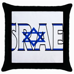 Israel2 Black Throw Pillow Case by worldbanners