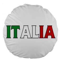 Italy 18  Premium Round Cushion  by worldbanners